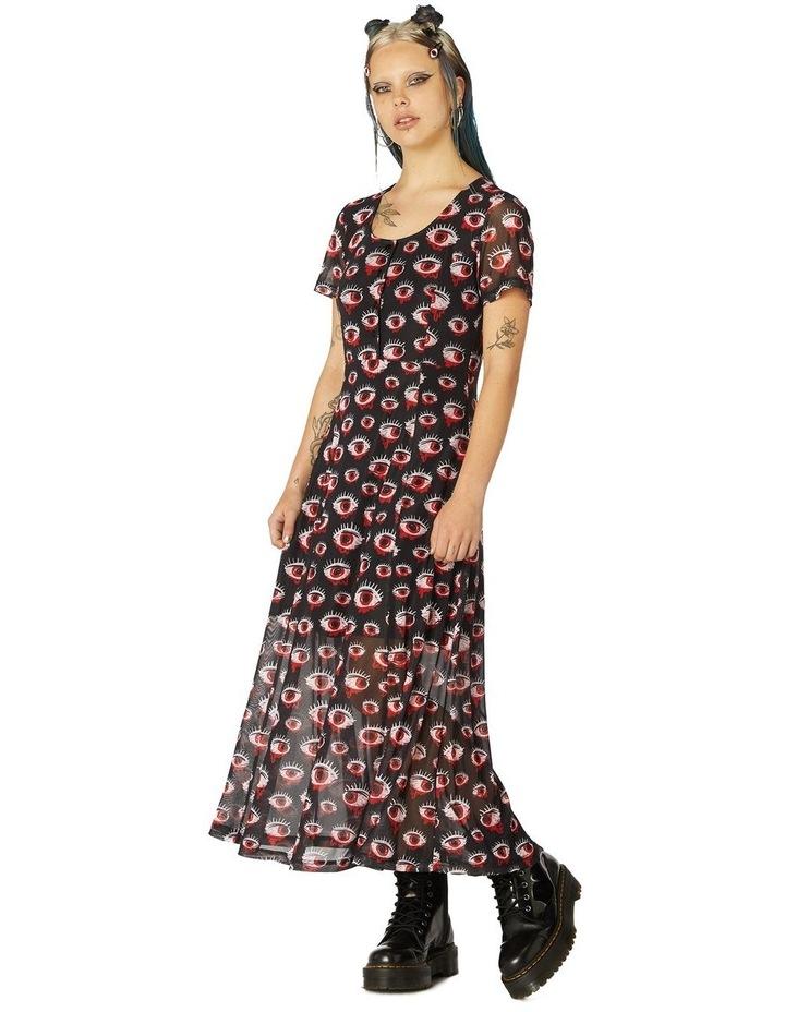 Printed Sheer Mesh Dress image 1