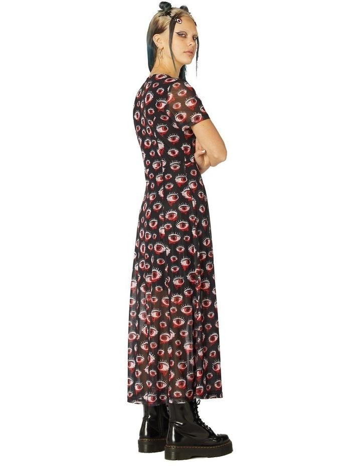 Printed Sheer Mesh Dress image 2