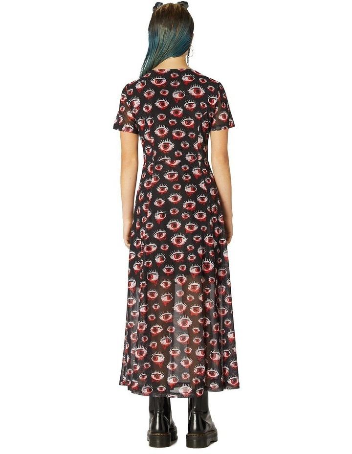 Printed Sheer Mesh Dress image 3