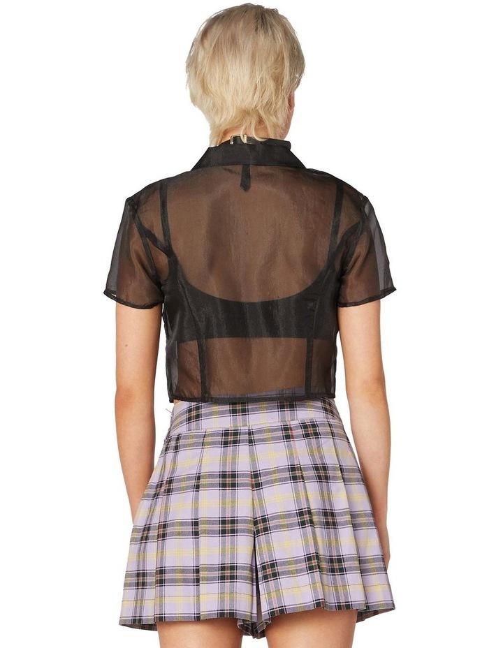 Sheer Organza Crop Blouse image 3