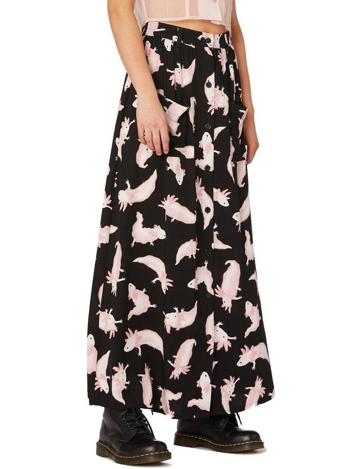 Axolotl Viscose Maxi Skirt Black image 2