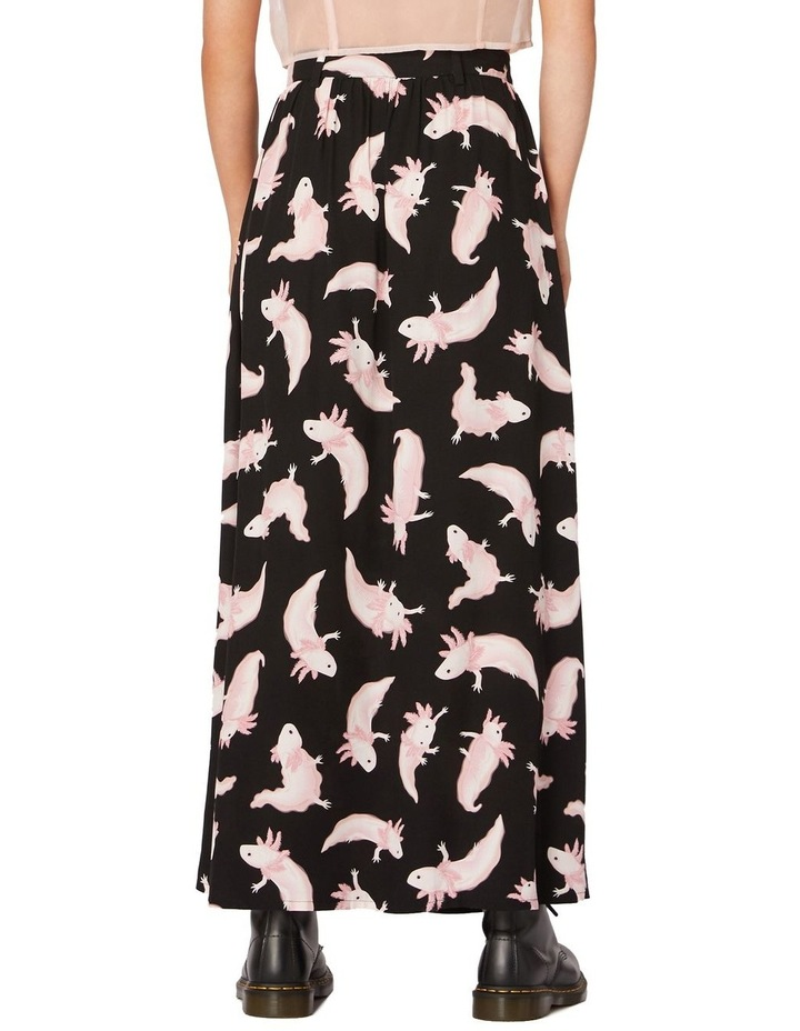 Axolotl Viscose Maxi Skirt Black image 3