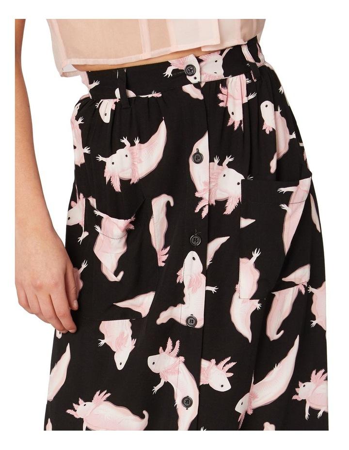 Axolotl Viscose Maxi Skirt Black image 4