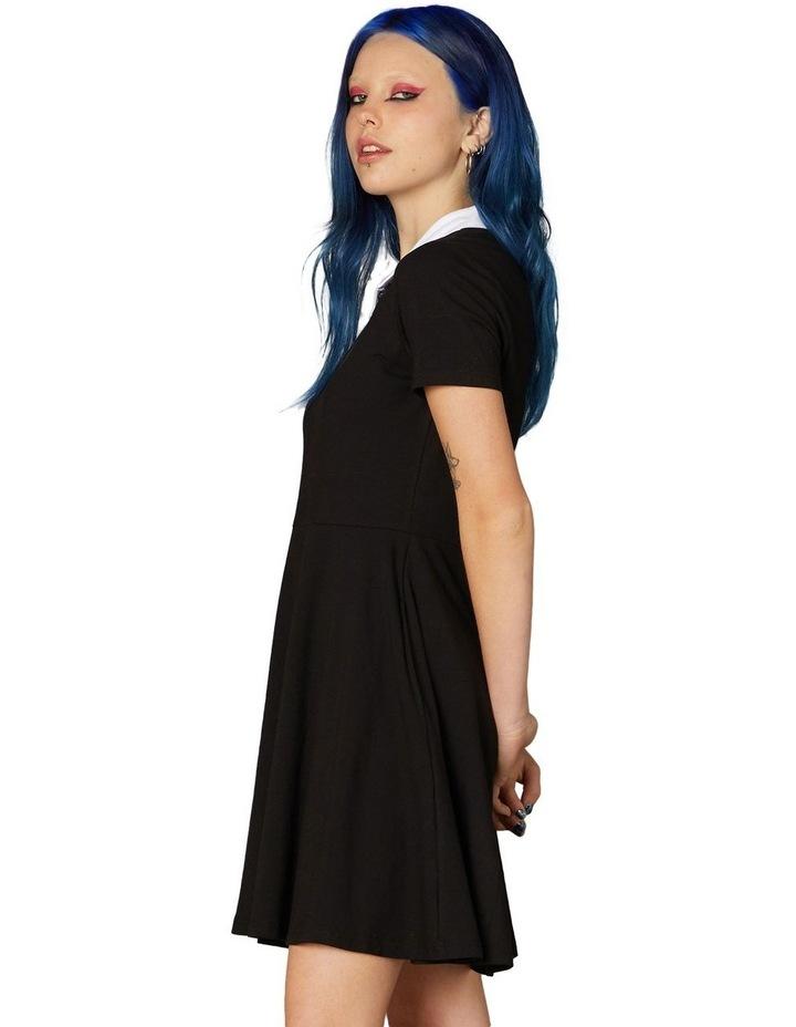 Goth Collar Skater Dress Black image 2