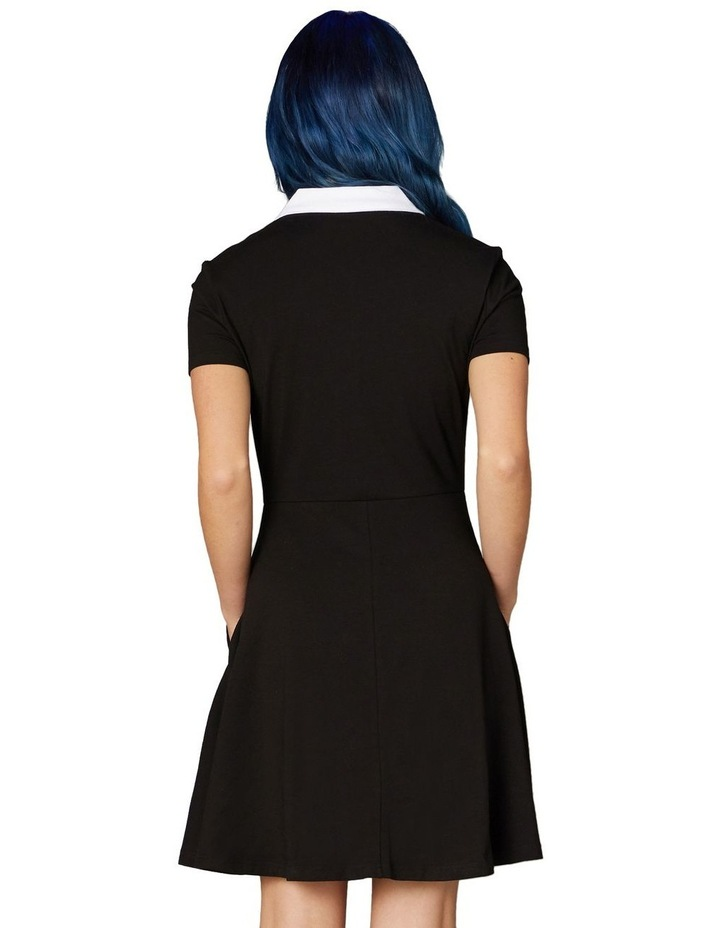 Goth Collar Skater Dress Black image 3