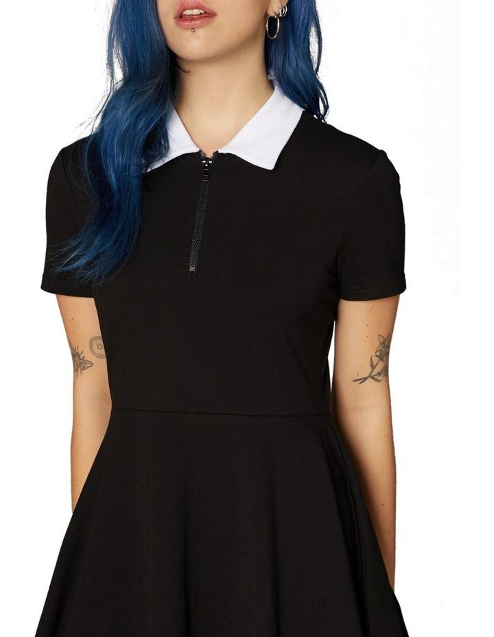 Goth Collar Skater Dress Black image 4