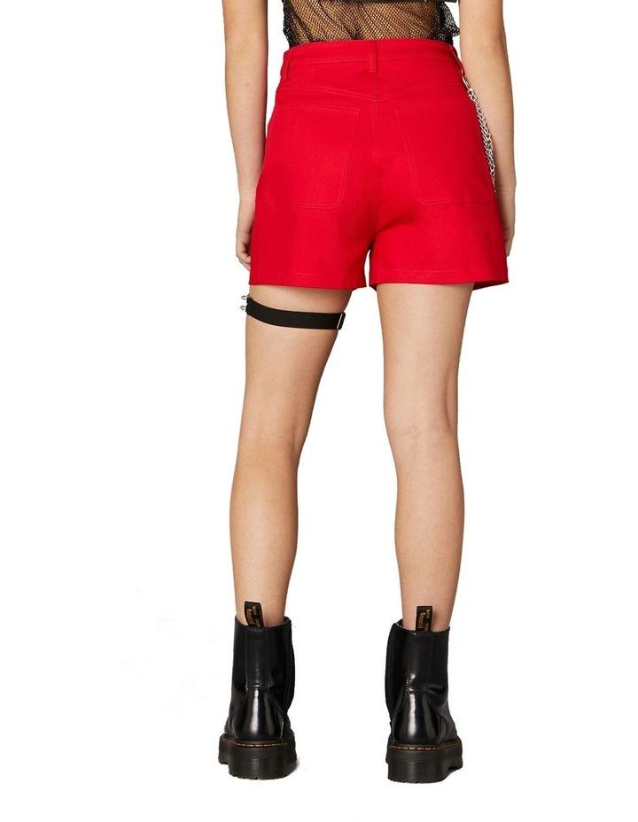 Gothic Chain Mini Shorts Red image 3