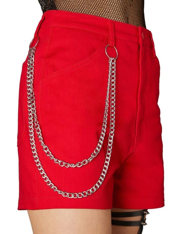 Gothic Chain Mini Shorts Red image 4
