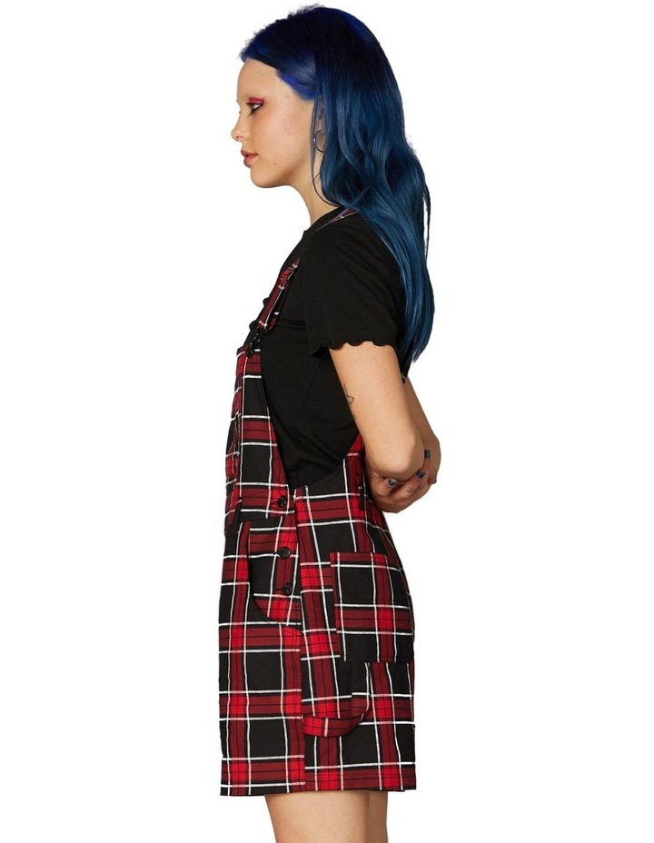 Gothic Tartan Short Overalls Red image 2