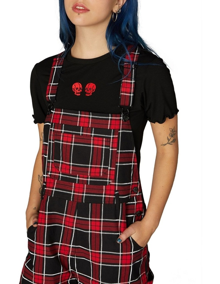 Gothic Tartan Short Overalls Red image 4
