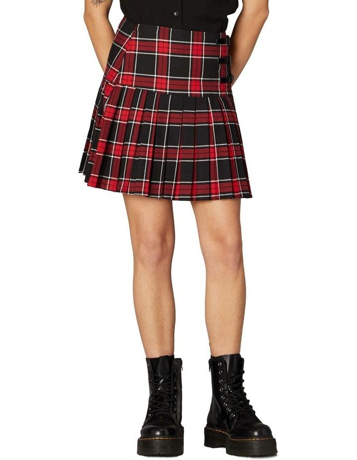 Gothic Tartan Mini Skirt Red image 1