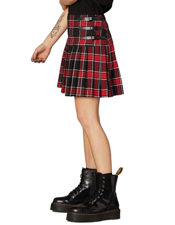 Gothic Tartan Mini Skirt Red image 2