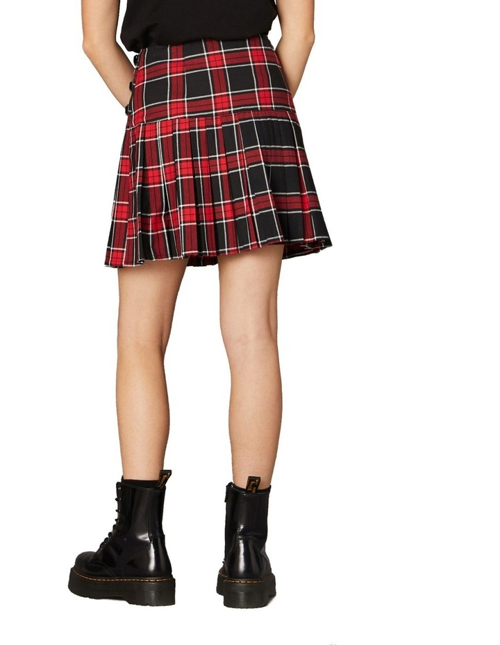 Gothic Tartan Mini Skirt Red image 3