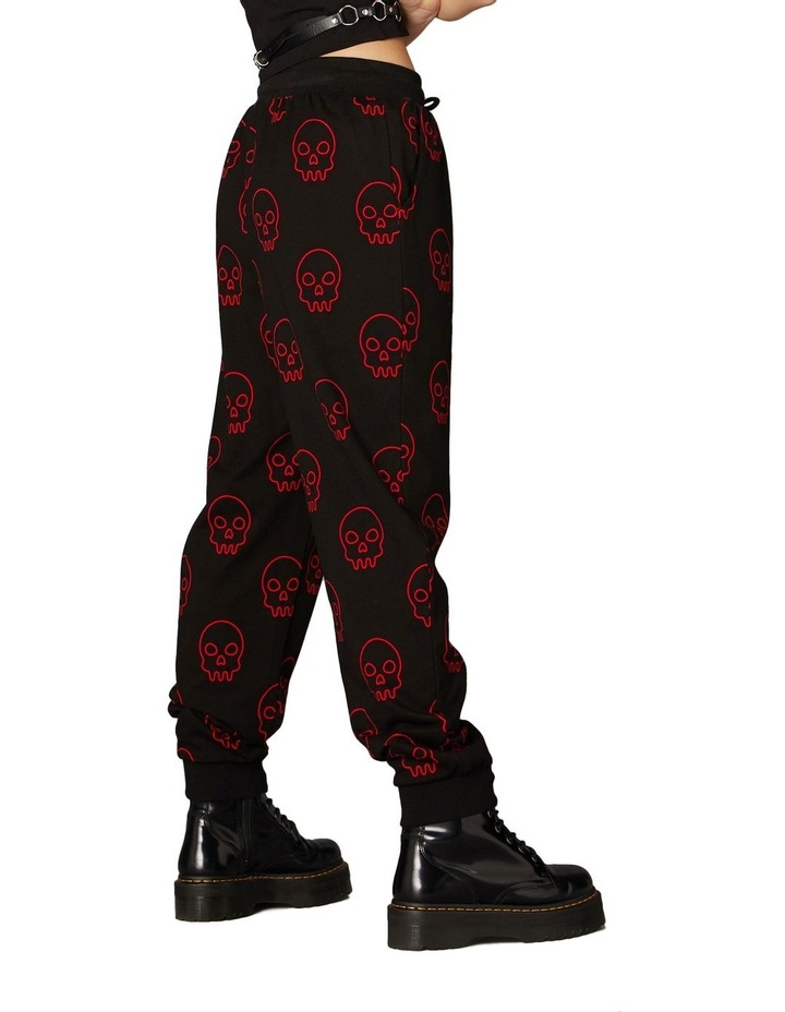 Printed Jersey Goth Trackpants Black image 3