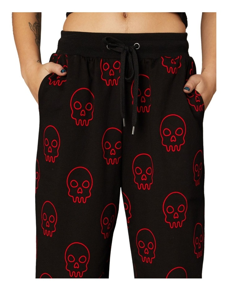 Printed Jersey Goth Trackpants Black image 4