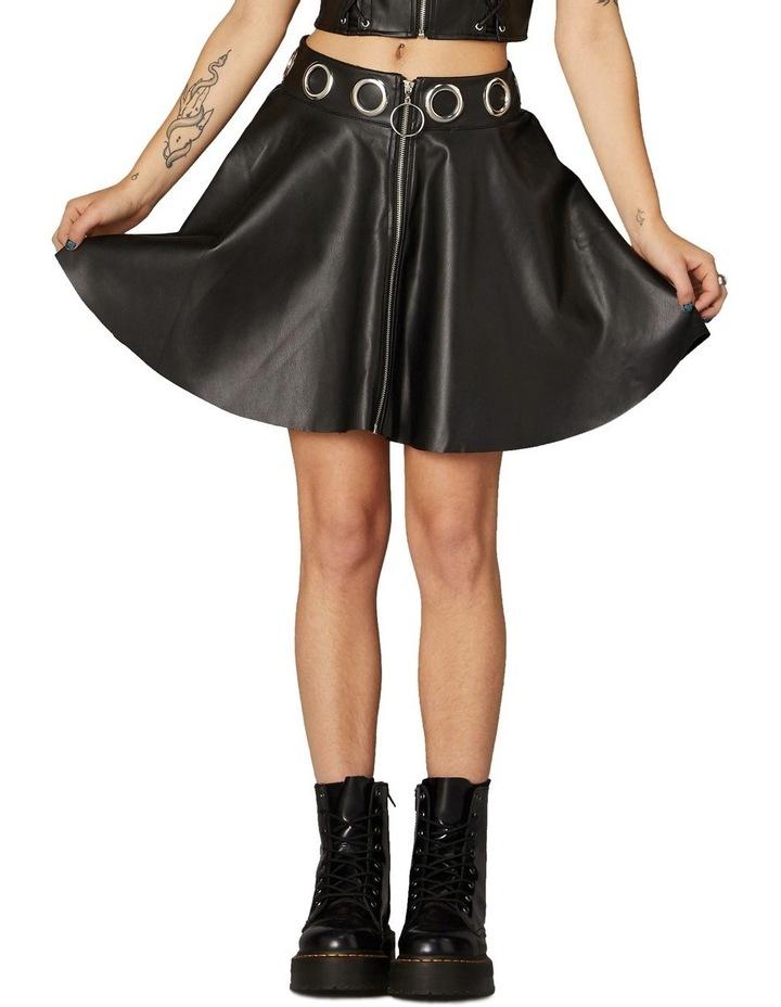 Delusional Front Zipper Skirt Black image 1