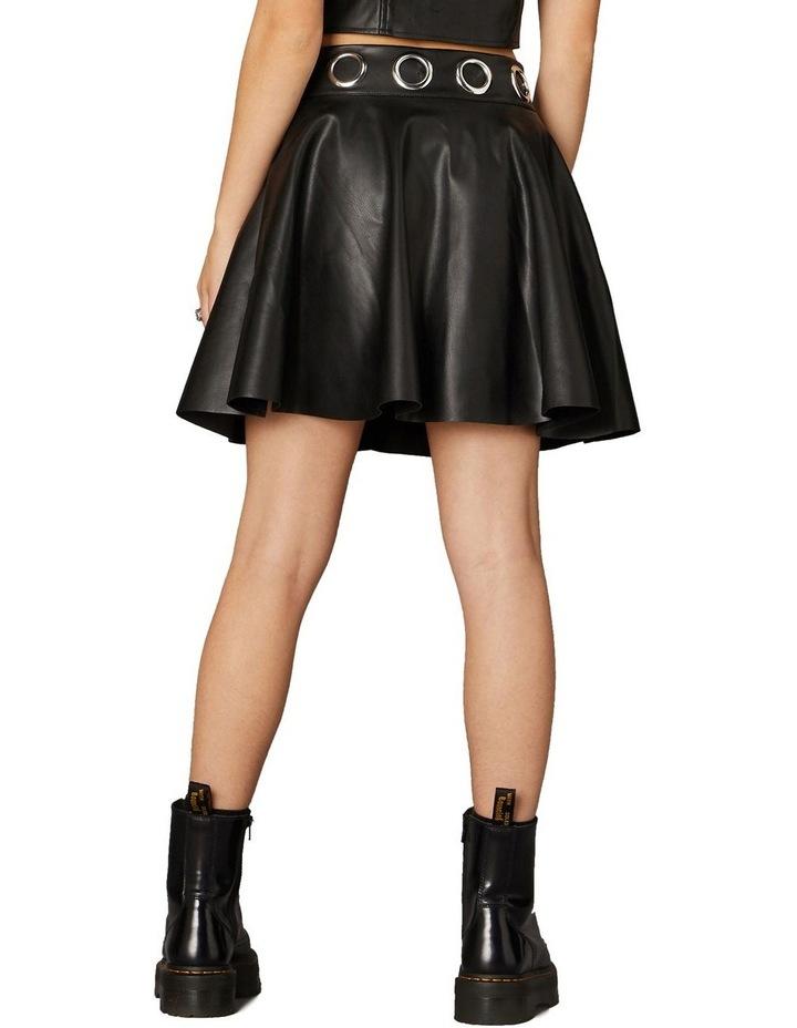Delusional Front Zipper Skirt Black image 3