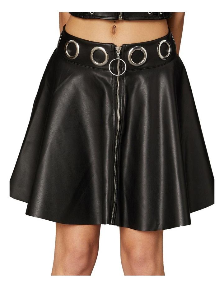 Delusional Front Zipper Skirt Black image 4