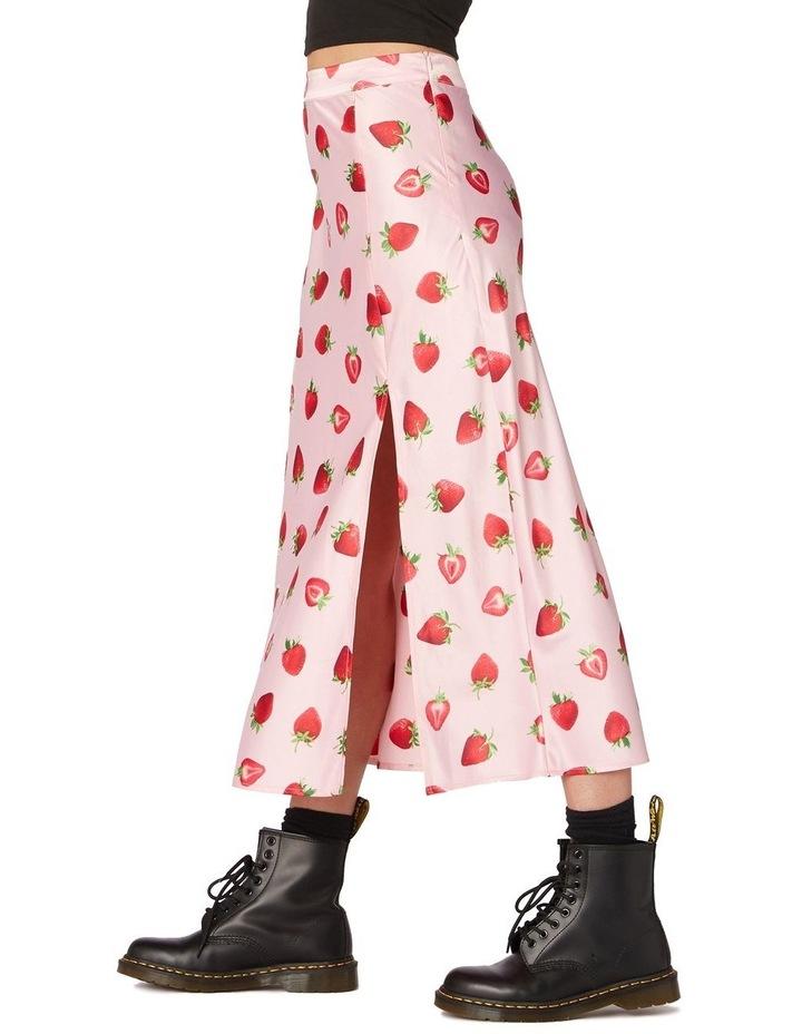 90's Strawberry Satin Slip Skirt Pink image 2