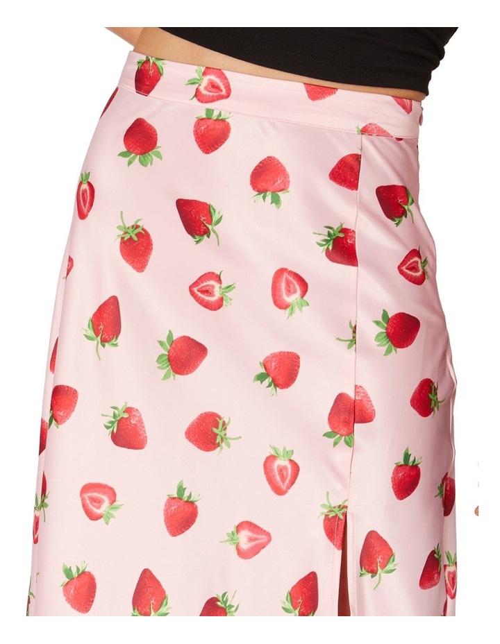 90's Strawberry Satin Slip Skirt Pink image 4
