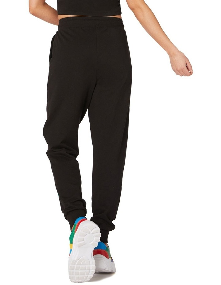 Butterfly Cotton Track Pants Black image 3