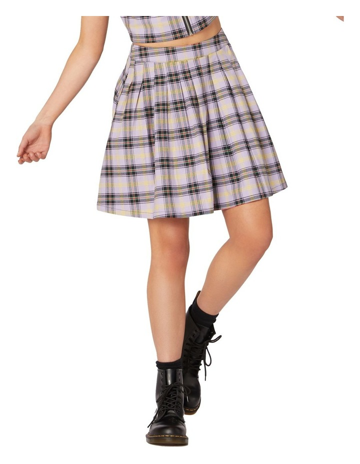 Outsider Tartan Pleat Skirt Purple image 1
