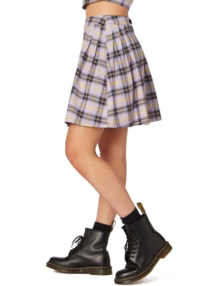 Outsider Tartan Pleat Skirt Purple image 2