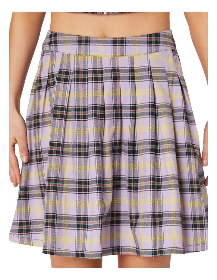 Outsider Tartan Pleat Skirt Purple image 3