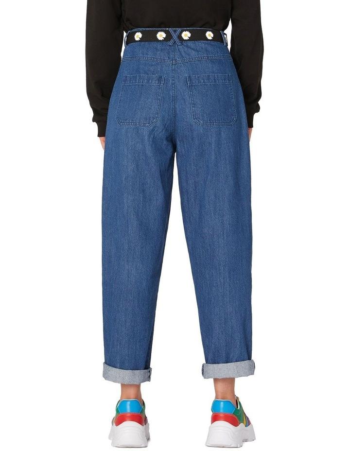 Classic Straight Denim Pants Blue image 3
