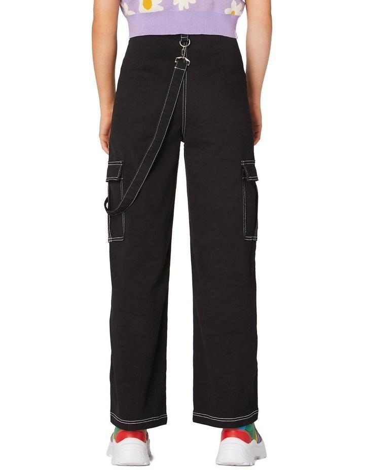 Perky Straight Leg Cargo Pants Black image 3