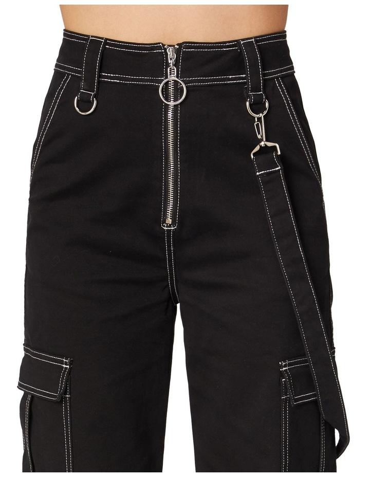 Perky Straight Leg Cargo Pants Black image 4