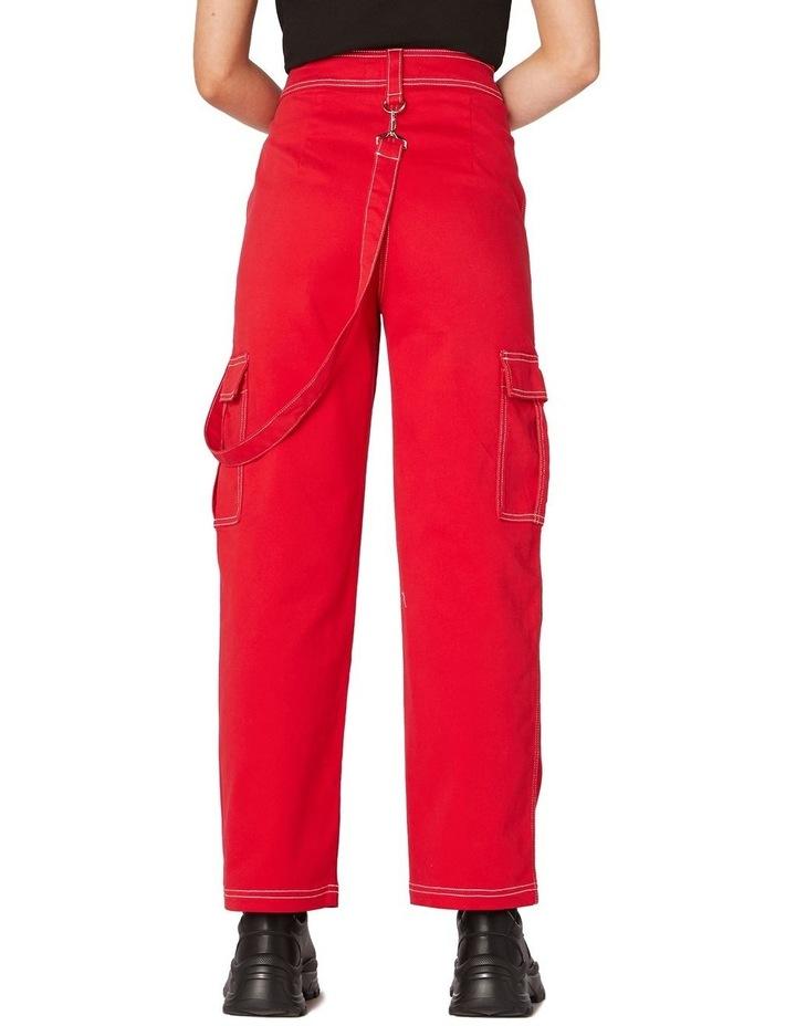 Perky Straight Leg Cargo Pants Red image 3