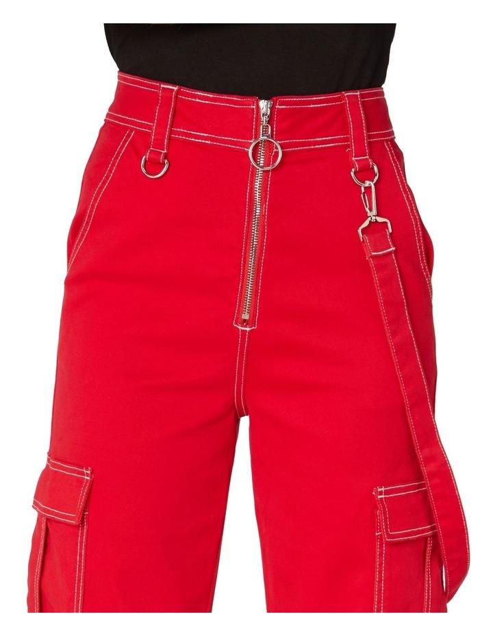 Perky Straight Leg Cargo Pants Red image 4