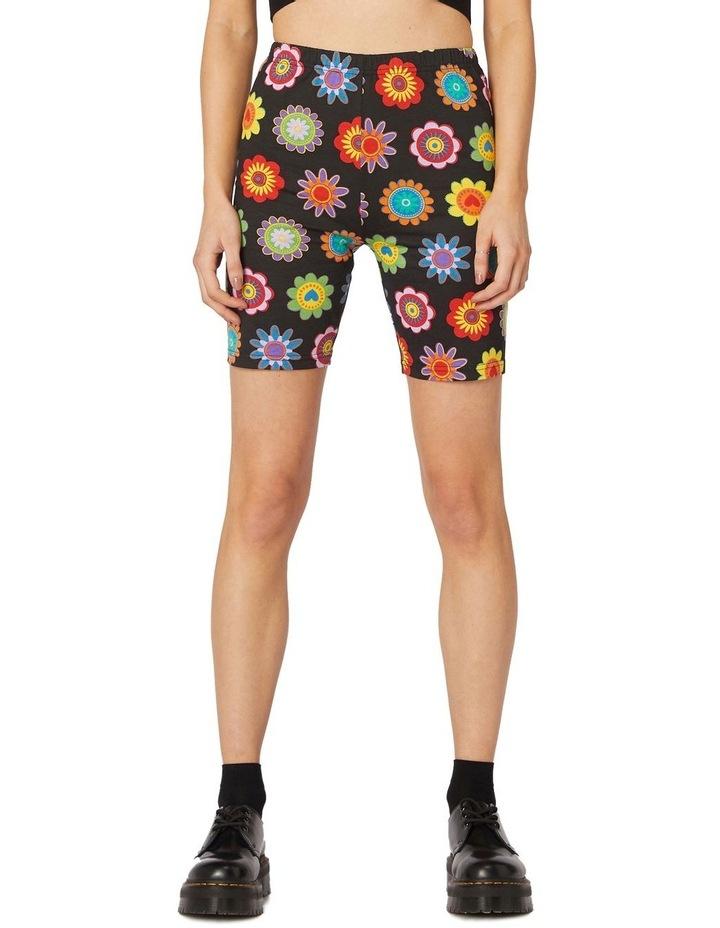 Daisy Jersey Biker Shorts Black image 1