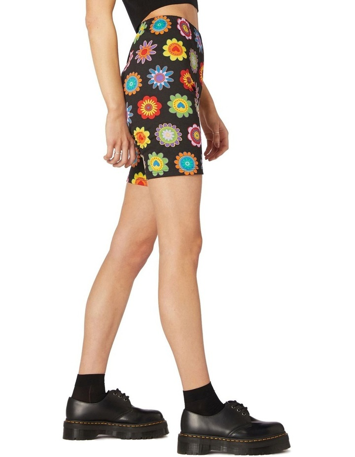 Daisy Jersey Biker Shorts Black image 2