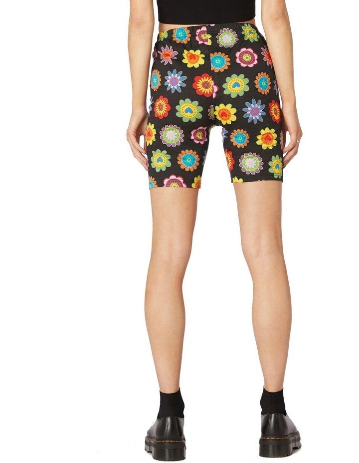 Daisy Jersey Biker Shorts Black image 3
