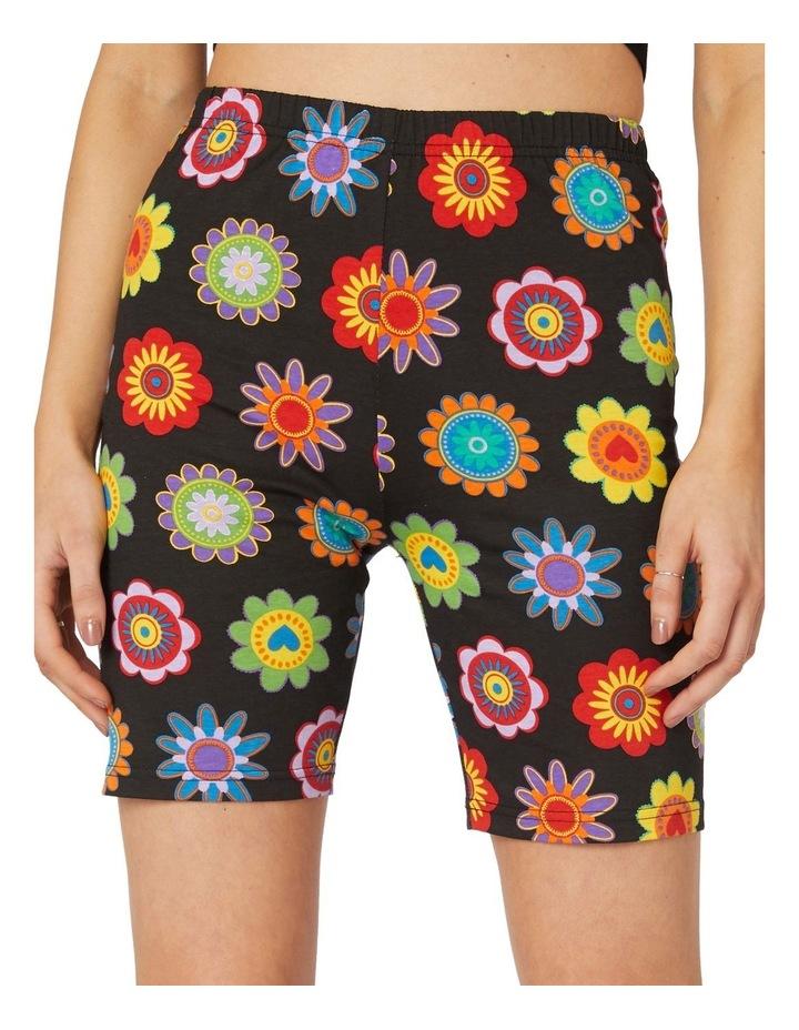 Daisy Jersey Biker Shorts Black image 4