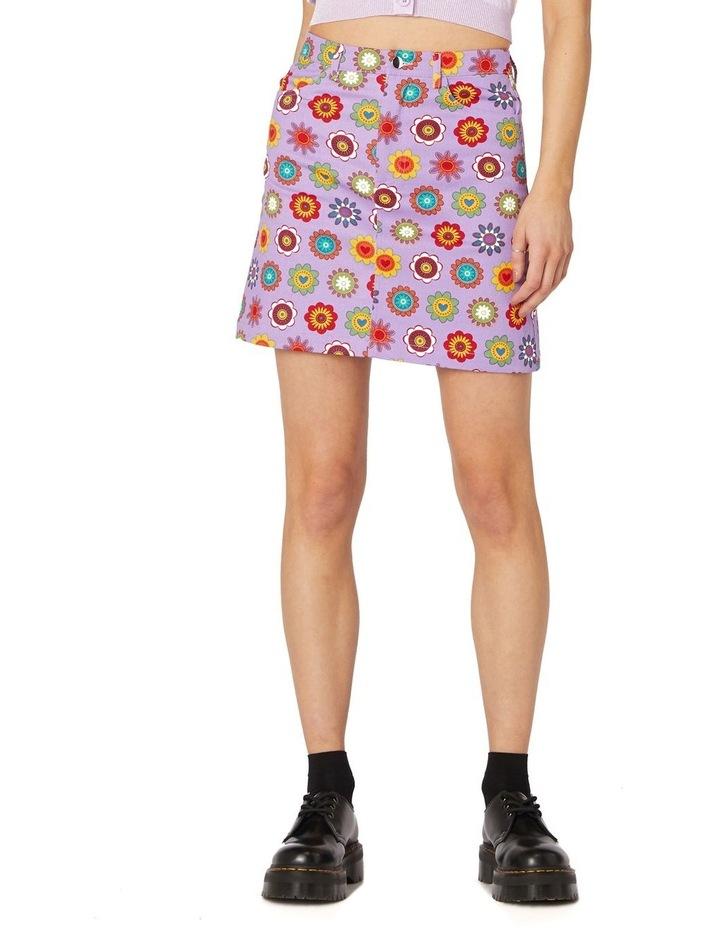 Daisy Cotton Drill Mini Skirt Purple image 1