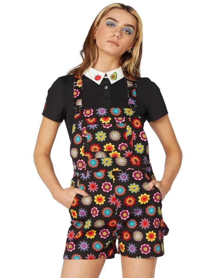 Daisy Cotton Drill Overalls Black image 1