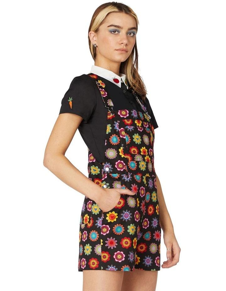 Daisy Cotton Drill Overalls Black image 2