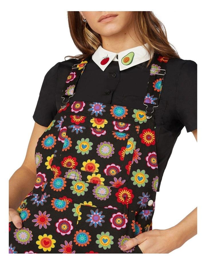 Daisy Cotton Drill Overalls Black image 4