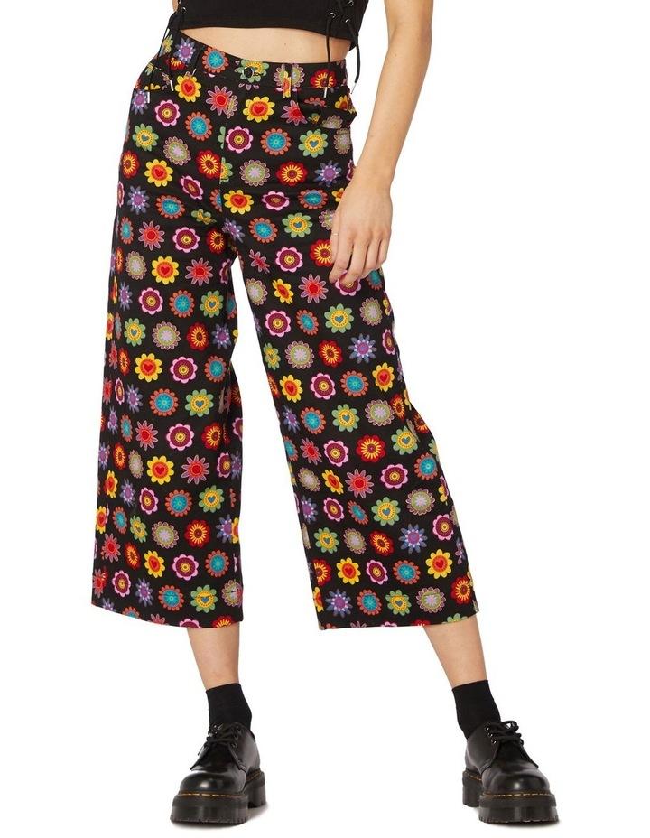 Daisy Cotton Drill Pants Black image 1