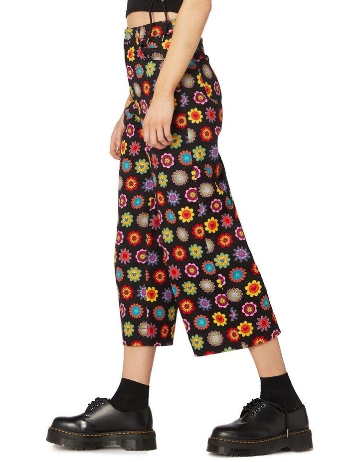 Daisy Cotton Drill Pants Black image 2