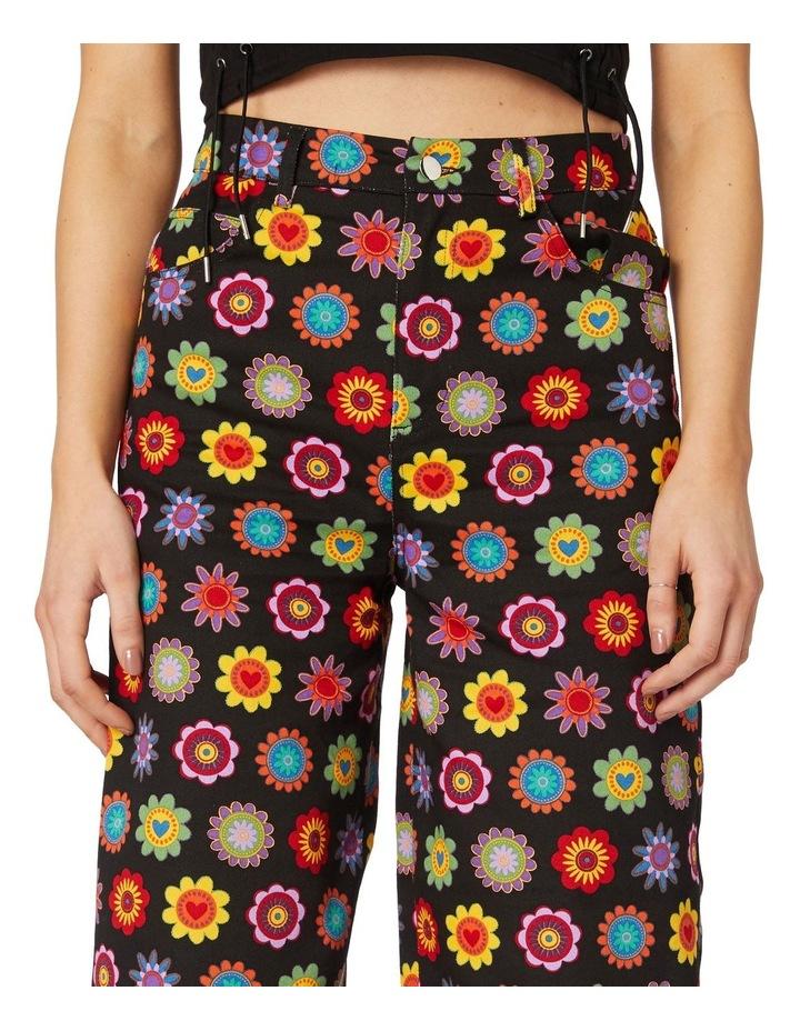 Daisy Cotton Drill Pants Black image 4