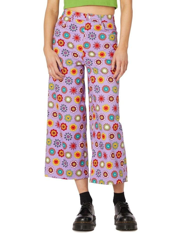 Daisy Cotton Drill Pants Purple image 1
