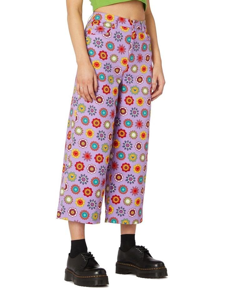 Daisy Cotton Drill Pants Purple image 2