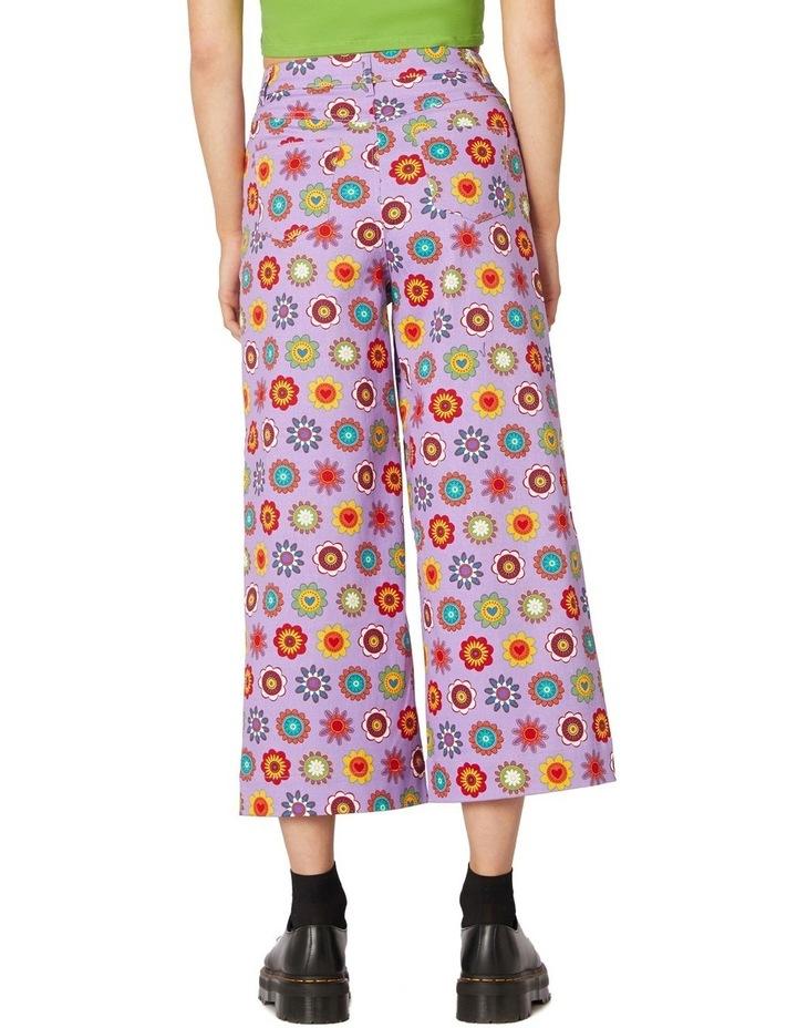 Daisy Cotton Drill Pants Purple image 3