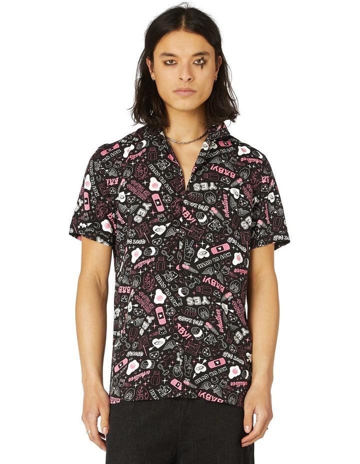 Printed Viscose Goth SS Shirt image 1