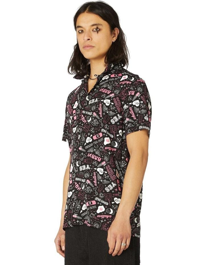 Printed Viscose Goth SS Shirt image 2
