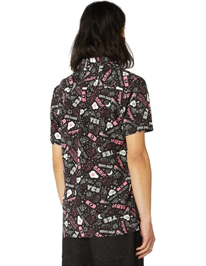 Printed Viscose Goth SS Shirt image 3